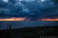Le fleuve Saint Laurent, temps orageux