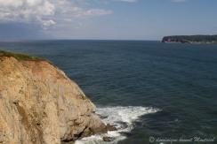 au fond l'île de Bonaventure, vue depuis le cap blanc,