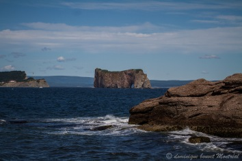 Rocher Percé vu depuis l'île Bonaventure